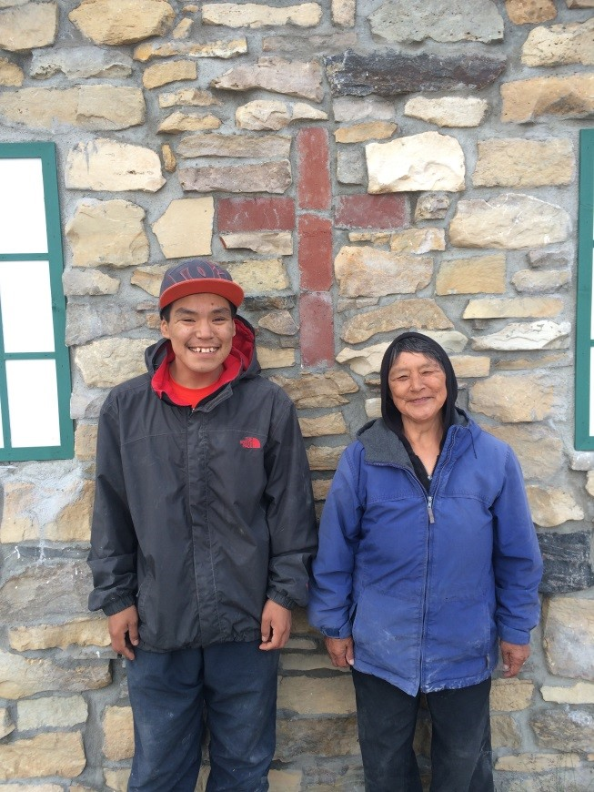 Mary Avalak and Thomas Kaohina are present at a blessing on August 6 – The Feast of the Transfiguration, and also the birthday of Mary's grandson and Thomas's friend who passed away this past year – Joanasie Avalak.
